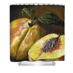 Fresh Peaches Shower Curtain by Adam Zebediah Joseph