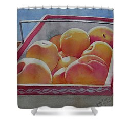 Fresh Peaches Shower Curtain