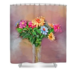Shower Curtain featuring the photograph Fresh Picked Flowers For You by Mary Timman