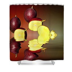 Fresh Ripe Mango Fruits Shower Curtain by David French