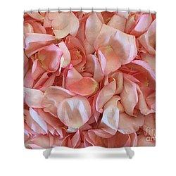 Fresh Rose Petals Shower Curtain