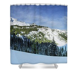 Shower Curtain featuring the photograph Fresh Snow At Mount Rainier by Dan Mihai