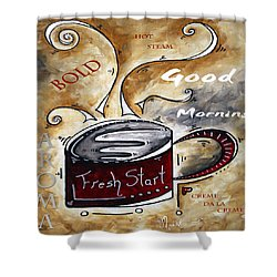 Fresh Start Original Painting Madart Shower Curtain by Megan Duncanson