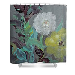 Shower Curtain featuring the painting Fresh Start  by Robin Maria Pedrero