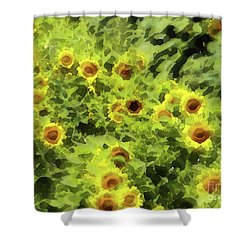 Fresh Sunflowers Shower Curtain