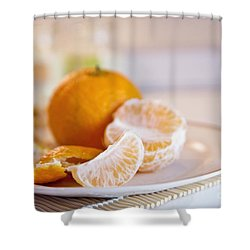 Shower Curtain featuring the photograph Freshly Peeled Citrus by Cindy Garber Iverson