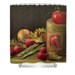 Freshly Picked Shower Curtain by Mary Wolf
