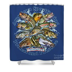 Freshwater Fish Preserve Shower Curtain