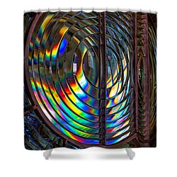 Fresnel Lens Point Arena Lighthouse Shower Curtain