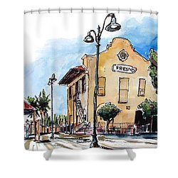 Old Fresno Depot Shower Curtain