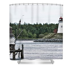 Friar's Head Lighthouse Shower Curtain