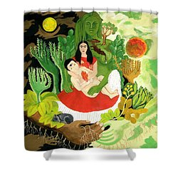 Frida And Diego Shower Curtain by Stephanie Moore