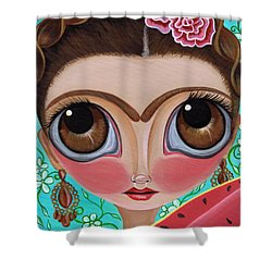 Frida And The Watermelon Shower Curtain