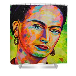 Frida Shower Curtain by Angel Ortiz