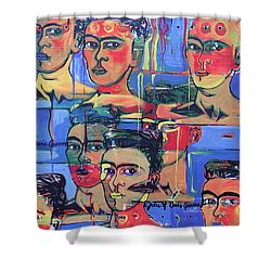 Frida Blue And Orange Shower Curtain