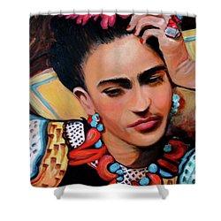 Frida Shower Curtain by Jan VonBokel