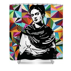Shower Curtain featuring the painting Frida Stay True by Carla Bank