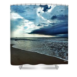 Friday Morning Shower Curtain by Christy Ricafrente