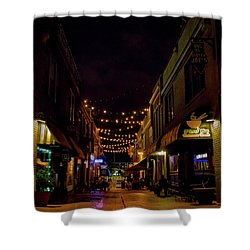 Friday Night Alley Shower Curtain