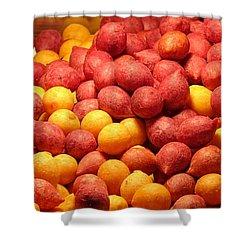 Shower Curtain featuring the photograph Fried Sweet Potato Balls by Yali Shi