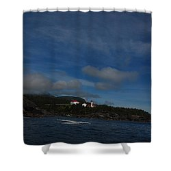 Friendly Cove From A Distance Shower Curtain