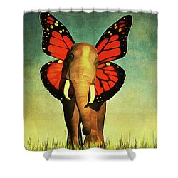 Friendly Elephant Shower Curtain