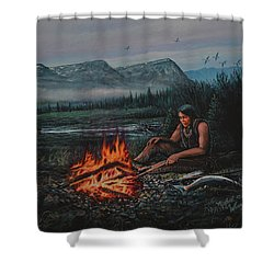 Friendly Fire Shower Curtain