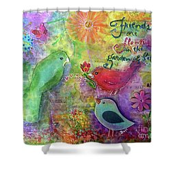 Friends Always Together Shower Curtain by Claire Bull