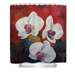 Shower Curtain featuring the painting Friends by Anna Ruzsan
