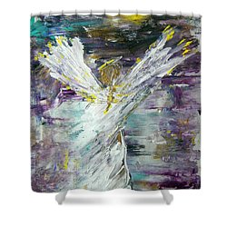 Friends Are Angels Shower Curtain