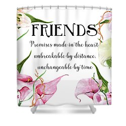 Shower Curtain featuring the digital art Friends by Colleen Taylor