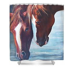 Friends For Life Shower Curtain by Karen Kennedy Chatham