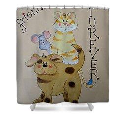 Friends Furever Shower Curtain