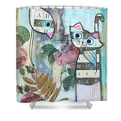 Friends Shower Curtain by Johanna Virtanen
