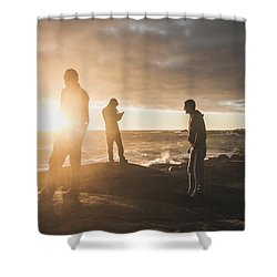 Friends On Sunset Shower Curtain by Jorgo Photography - Wall Art Gallery
