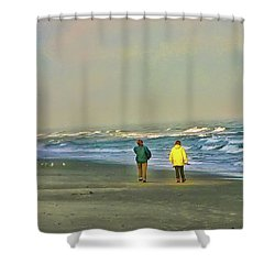 Shower Curtain featuring the photograph Friends by Rhonda McDougall