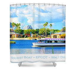 Friendship Boat On The Lagoon Epcot Walt Disney World Shower Curtain