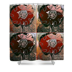 Shower Curtain featuring the mixed media Friendship Charm by Ann Calvo