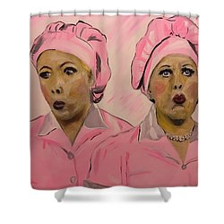 Friendship Factor  Shower Curtain by Miriam Moran