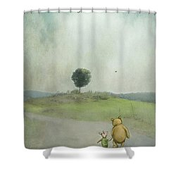 Friendship Shower Curtain by Kathy Russell