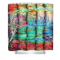 Friendship Shower Curtain by Valerie Anne Kelly