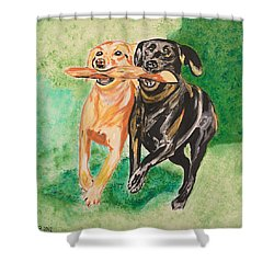 Friendship Shower Curtain by Valerie Ornstein
