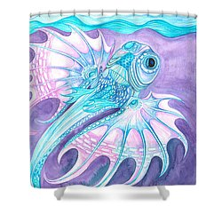 Frilled Fish Shower Curtain