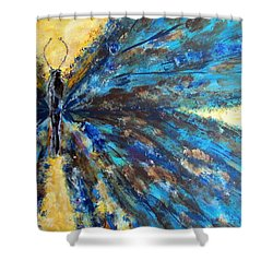 Fringed Shower Curtain by Mary Arneson