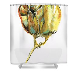 Shower Curtain featuring the painting Fritillaria by Frances Marino