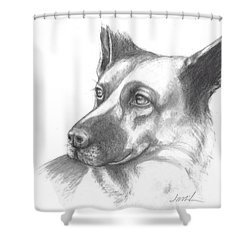 Fritz The German Shepherd Shower Curtain