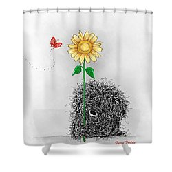 Frizzy Freddy- A Sunflower Just For You Shower Curtain