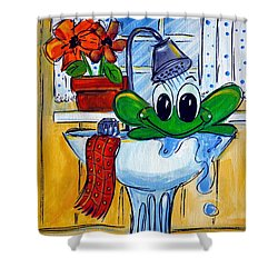 Frog Bath Shower Curtain