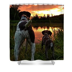 Frog Hunters 2 Shower Curtain