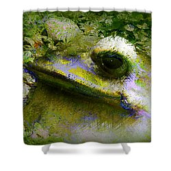 Frog In The Pond Shower Curtain